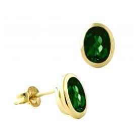 Acalee 70-1017-05 Damen-Ohrringe Gold 333 / 8K mit Chromdiopsid