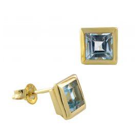 Acalee 70-1018-01 Damen-Ohrringe Ohrstecker Gold 333 / 8K mit Topas Blau