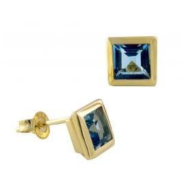 Acalee 70-1018-02 Damen-Ohrringe Gold 333 / 8K mit Topas Swiss Blau