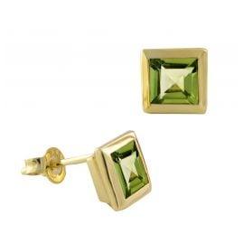 Acalee 70-1018-04 Damen-Ohrringe Ohrstecker Gold 333 / 8K mit Peridot