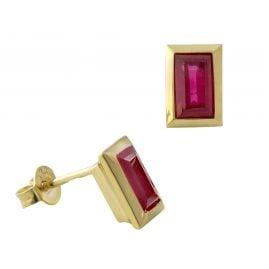 Acalee 70-1026-07 Damen-Ohrringe Gold 333 / 8K mit Rubin