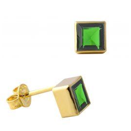 Acalee 70-1025-05 Damen-Ohrringe Ohrstecker Gold 333 / 8K mit Chromdiopsid
