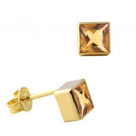 Acalee 70-1025-06 Damen-Ohrringe Gold 333 / 8K mit Citrin