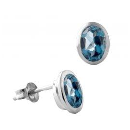 Acalee 70-1024-03 Ohrringe Weißgold 333 / 8K mit Topas London Blau