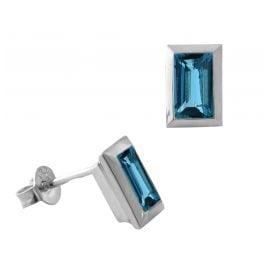 Acalee 70-1023-03 Ohrringe Weißgold 333 / 8K mit Topas London Blau