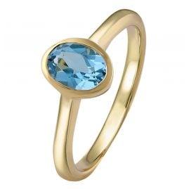 Acalee 90-1015-02 Damenring Gold 333 / 8K Topas Swiss Blau