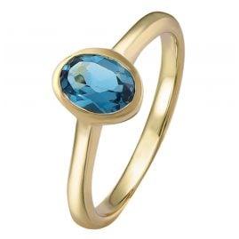 Acalee 90-1015-03 Damenring Gold 333 / 8K Topas London Blau