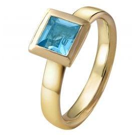 Acalee 90-1014-02 Damenring Gold 333 / 8K Topas Swiss Blau