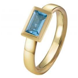 Acalee 90-1018-02 Damenring Gold 333 / 8K mit Topas Swiss Blau