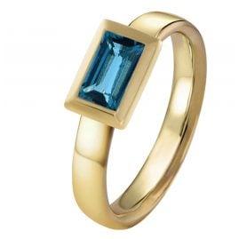 Acalee 90-1018-03 Damenring Gold 333 / 8K mit Topas London Blau