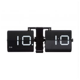 Cloudnola SKU0040 Table and Wall Clock Flipping Out Black