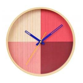 Cloudnola SKU0041 Wall Clock Flor Red