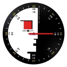 Dreizeit BH2R Wall Clock Bauhaus No. 2 with Red Hand
