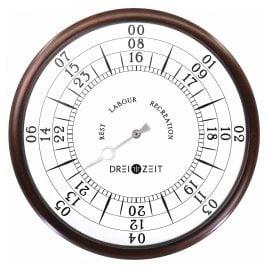 Dreizeit CLA1 Wall Clock Classic No. 1 Brown/White