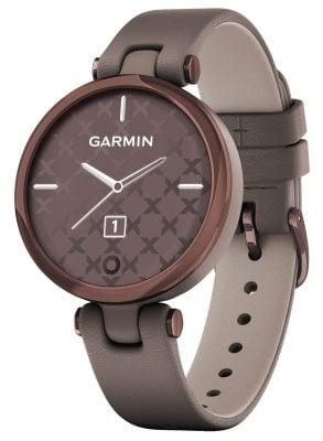 Garmin 010-02384-B0 Lily Classic Damen-Smartwatch Taupe/Mokka