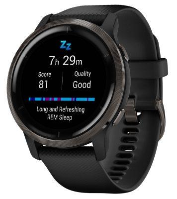 Garmin 010-02430-11 Venu 2 Fitness Smartwatch Schwarz/Schiefergrau