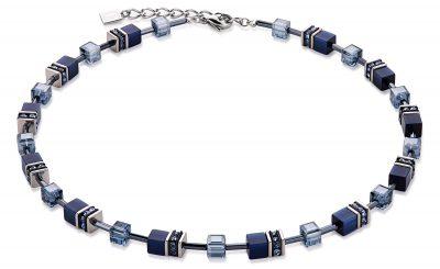 Coeur de Lion 4322/10-722 Damen-Halskette Geo Cube Navy