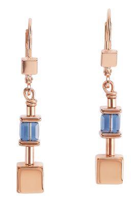 Coeur de Lion 5052/20-0700 Damen-Ohrringe roségold / blau