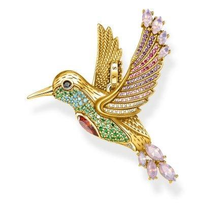 Thomas Sabo PE875-488-7 Anhänger Bunter Kolibri goldfarben