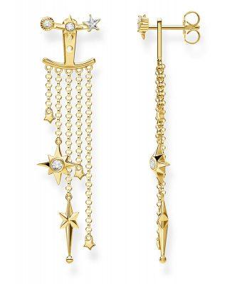 Thomas Sabo H2120-414-14 Ohrringe Ear Jacket Sterne Silber vergoldet