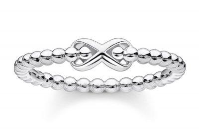 Thomas Sabo TR2320-001-21 Silber-Ring für Damen Kugeln mit Unendlichkeitszeichen
