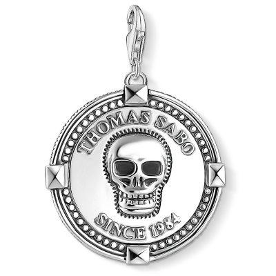 Thomas Sabo 1698-637-21 Charm-Anhänger Coin Totenkopf