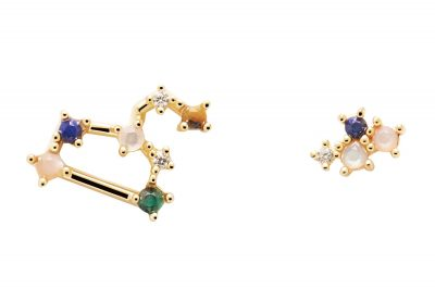 P D Paola AR01-408-U Damen-Ohrringe Sternzeichen Löwe Silber vergoldet