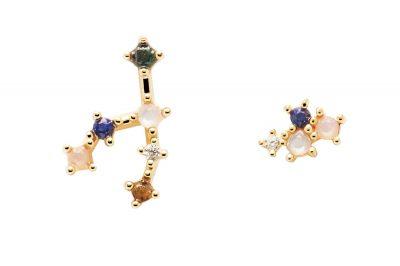 P D Paola AR01-405-U Damen-Ohrringe Sternzeichen Stier Silber vergoldet Ohrringe