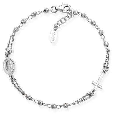 Amen BROBD3 Damen-Armband Rosenkranz Silber