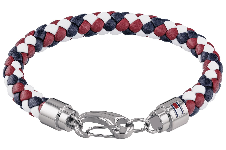 Tommy hilfiger Jewelry Leather Bracelet for Men/'s Black 2701000L