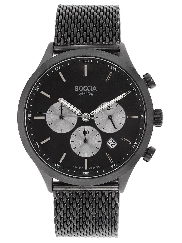 online store a0e45 f2f11 Boccia 3750-06 Men's Watch Chronograph Titanium