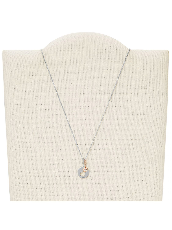 Fossil JFS00498998 Silber Damen Kette mit Herz Anhänger