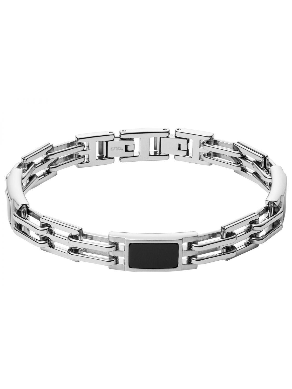 tolle Preise Premium-Auswahl modischer Stil Fossil JF03171040 Edelstahl Herren-Armband mit Achat Plaque