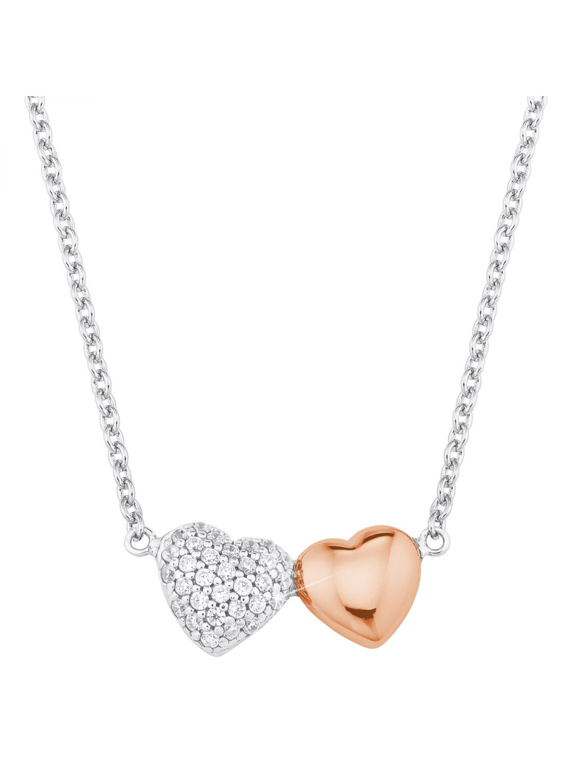 low priced 7bb7e 528b7 s.Oliver 2024207 Silver Ladies' Necklace with Heart Pendant