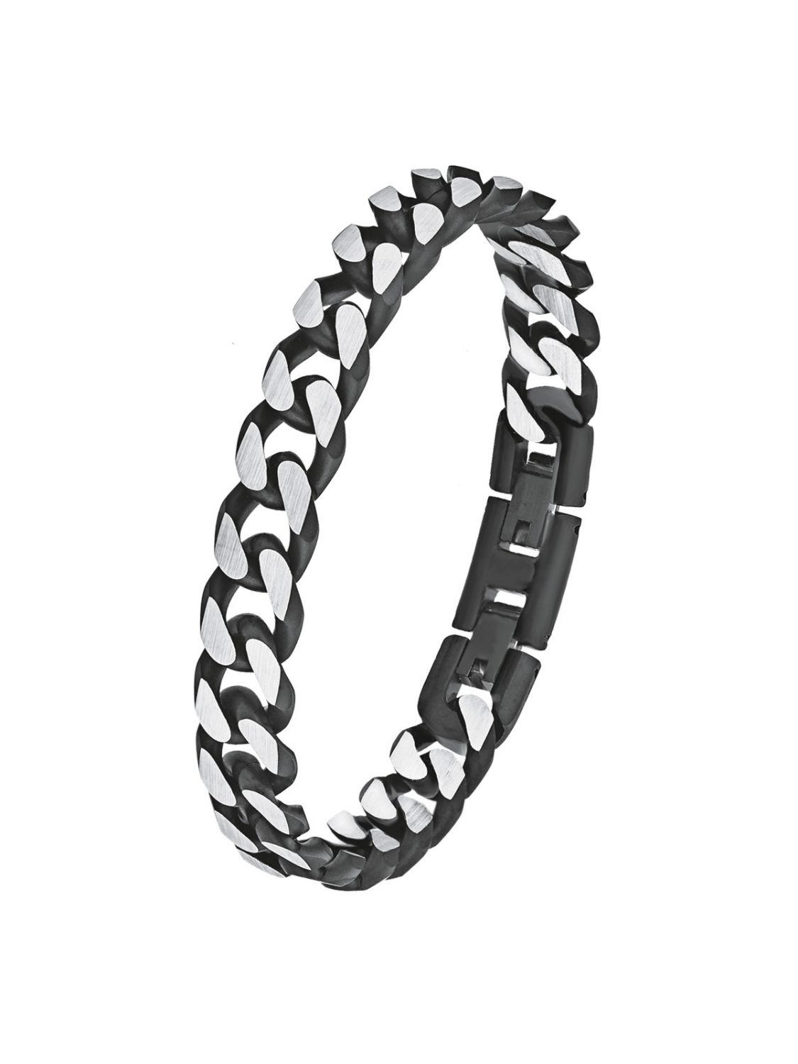 0bc8331781bed s.Oliver 9954490 Men's Curb Chain Bracelet Stainless Steel Black