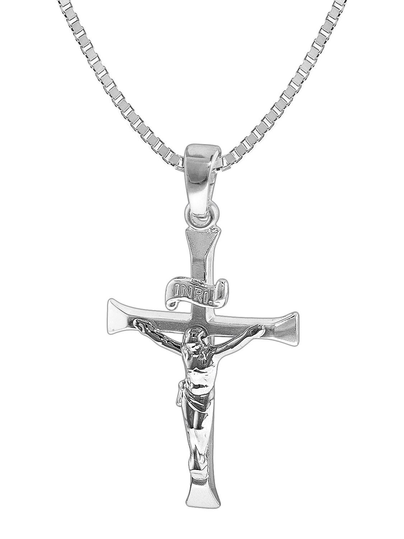 Repliken neueste trends von 2019 großer rabatt von 2019 trendor 35852 Silber-Herrenkette mit Kreuz-Anhänger