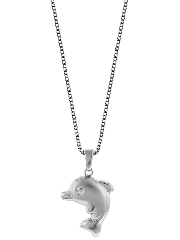 B21 Wal Delfin Fisch Anhänger 925 Sterling Silber