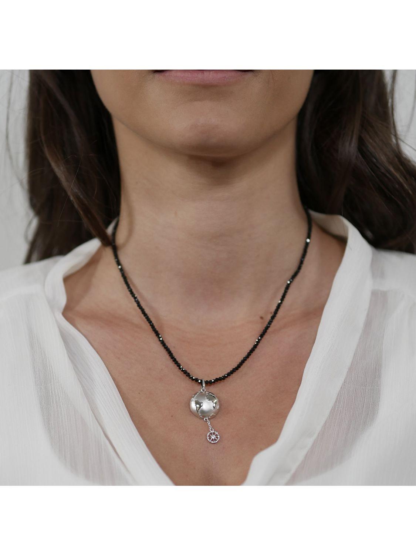 trendor 75500 Pendant Planet Earth Silver 925 + Necklace
