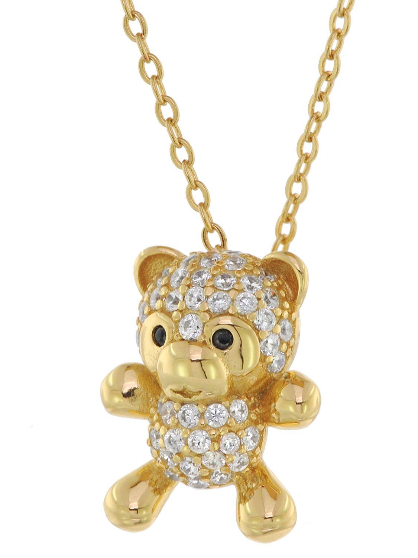 Kette Bär Damen Halskette Necklace Silver Silber Teddy Teddybär Nette Anhänger