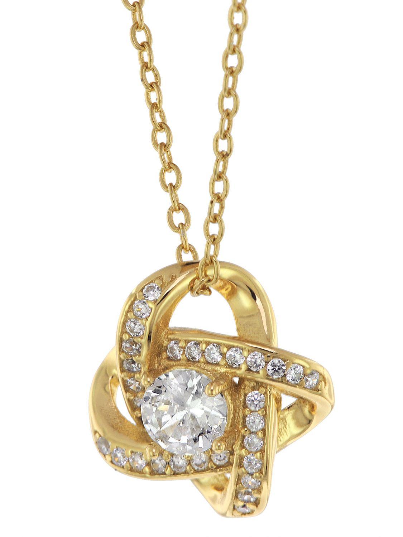 trendor 75856 Damen Halskette Gold auf Silber Anhänger