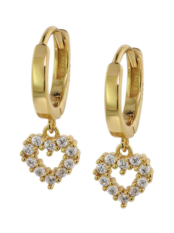 trendor 75843 Ohrringe Gold auf Silber Zirkonia Creolen