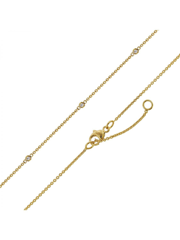 b4db857fdf434 trendor 75300 Necklace with Cubic Zirconias Gold 375 (9 Carat)