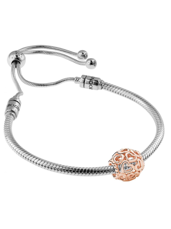 fac823c32879a Pandora 08665 Bracelet Set Moments Sliding and Charm Open Your Heart Rose