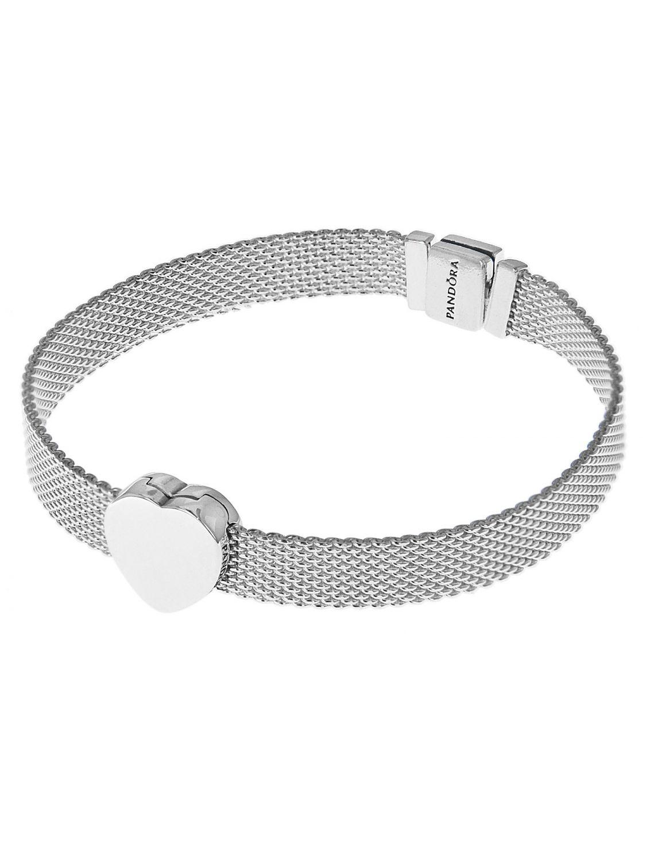 Pandora 75333 Reflexions Silver Women S Bracelet With Heart Clip