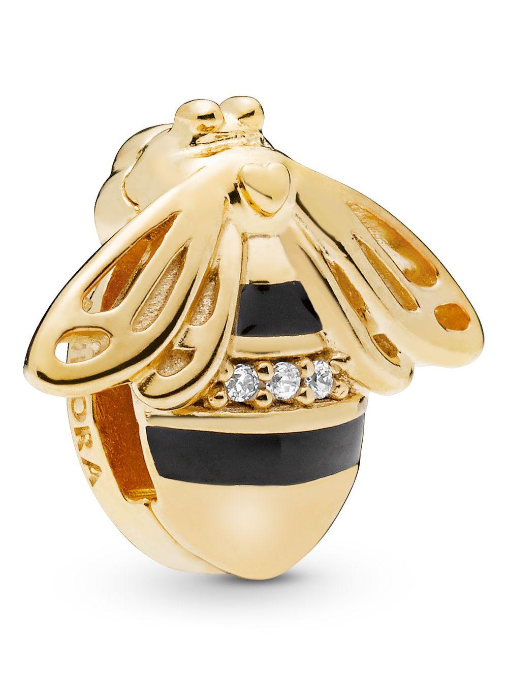 be747183941fa Pandora 767862EN16 Reflexions Clip Charm Queen Bee Shine