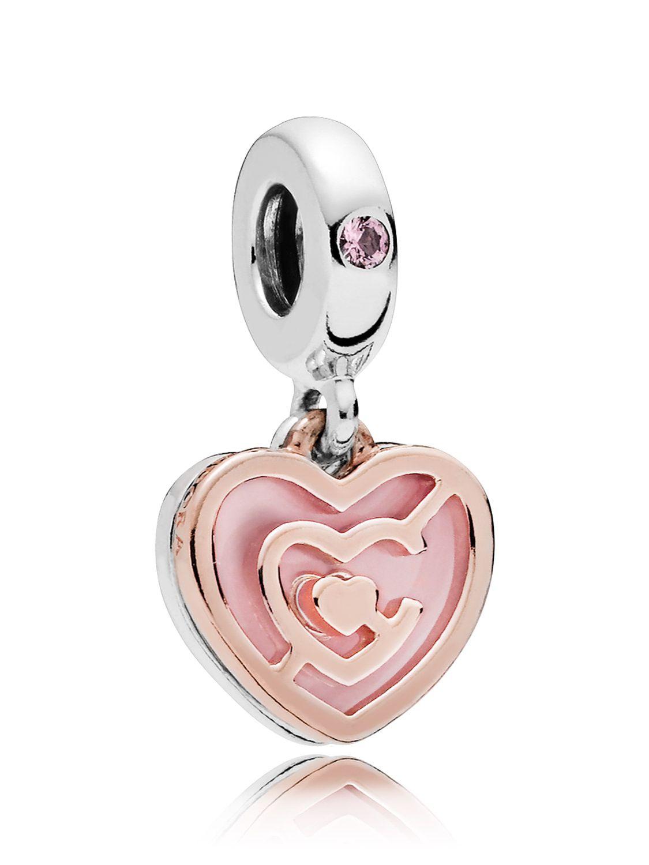 c083d9a5f0533 Pandora 787801NBP Rose Charm Pendant Path to Love