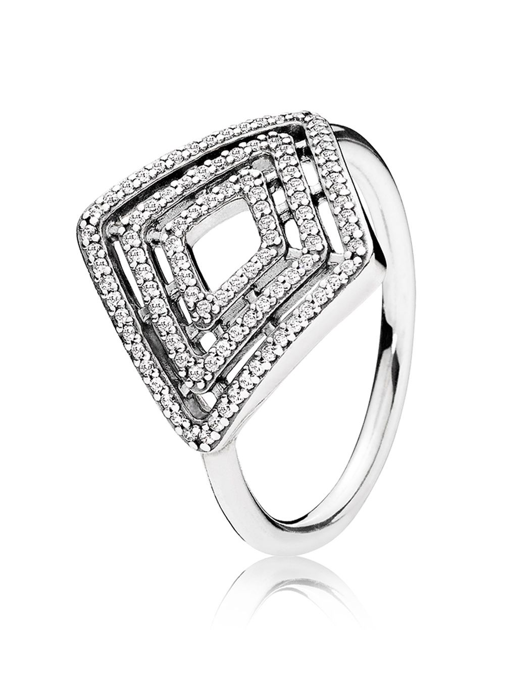 9680d5763c5db Pandora 196210CZ Ladies Ring Geometrical Lines