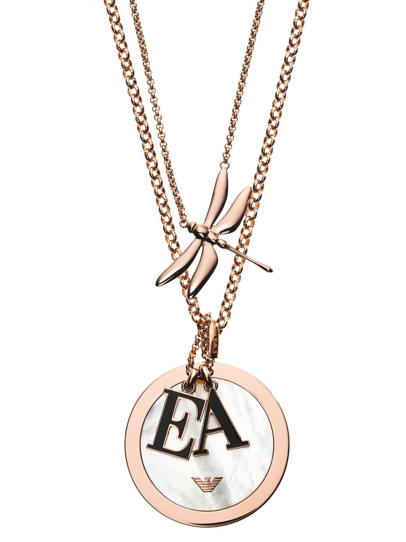 bester Platz gesamte Sammlung heiß-verkaufende Mode Emporio Armani EGS2623221 Damen-Halskette Libelle