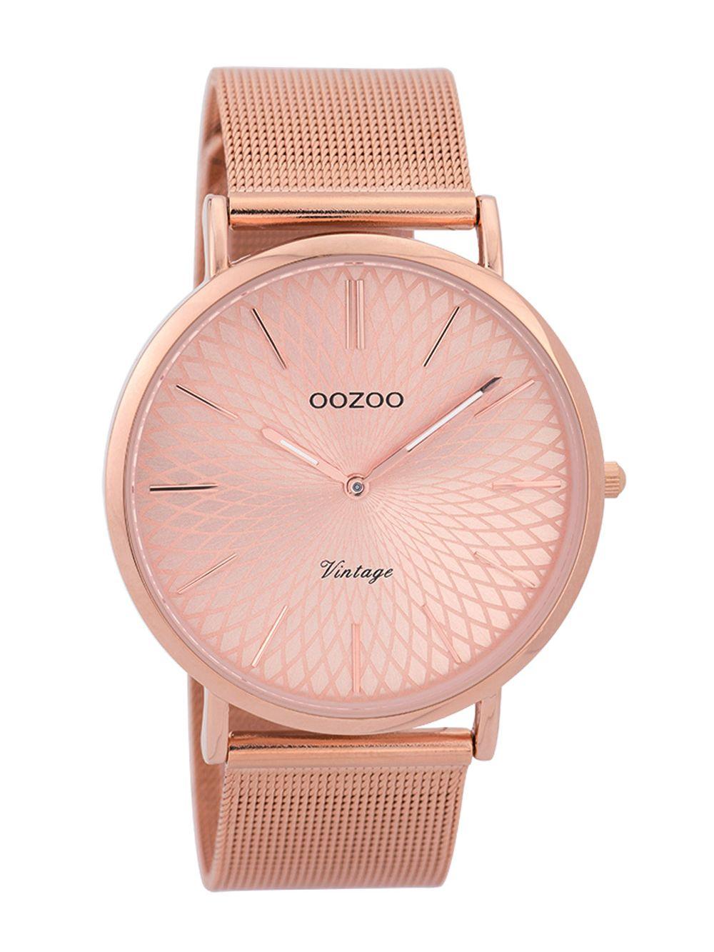 Oozoo C9343 Damen Armbanduhr Vintage Rosé 40 mm