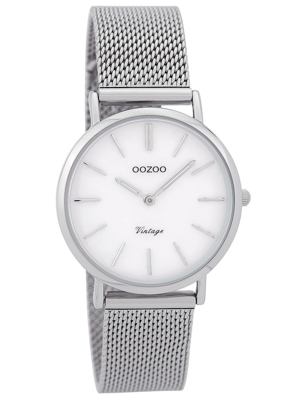 Silver 32 Oozoo Ladies White C9361 Mm Vintage Tonepearly Watch WIYHED29